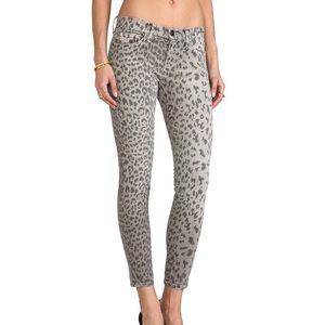 CURRENT ELLIOT   Cheetah Print Skinny Jeans Sz 29